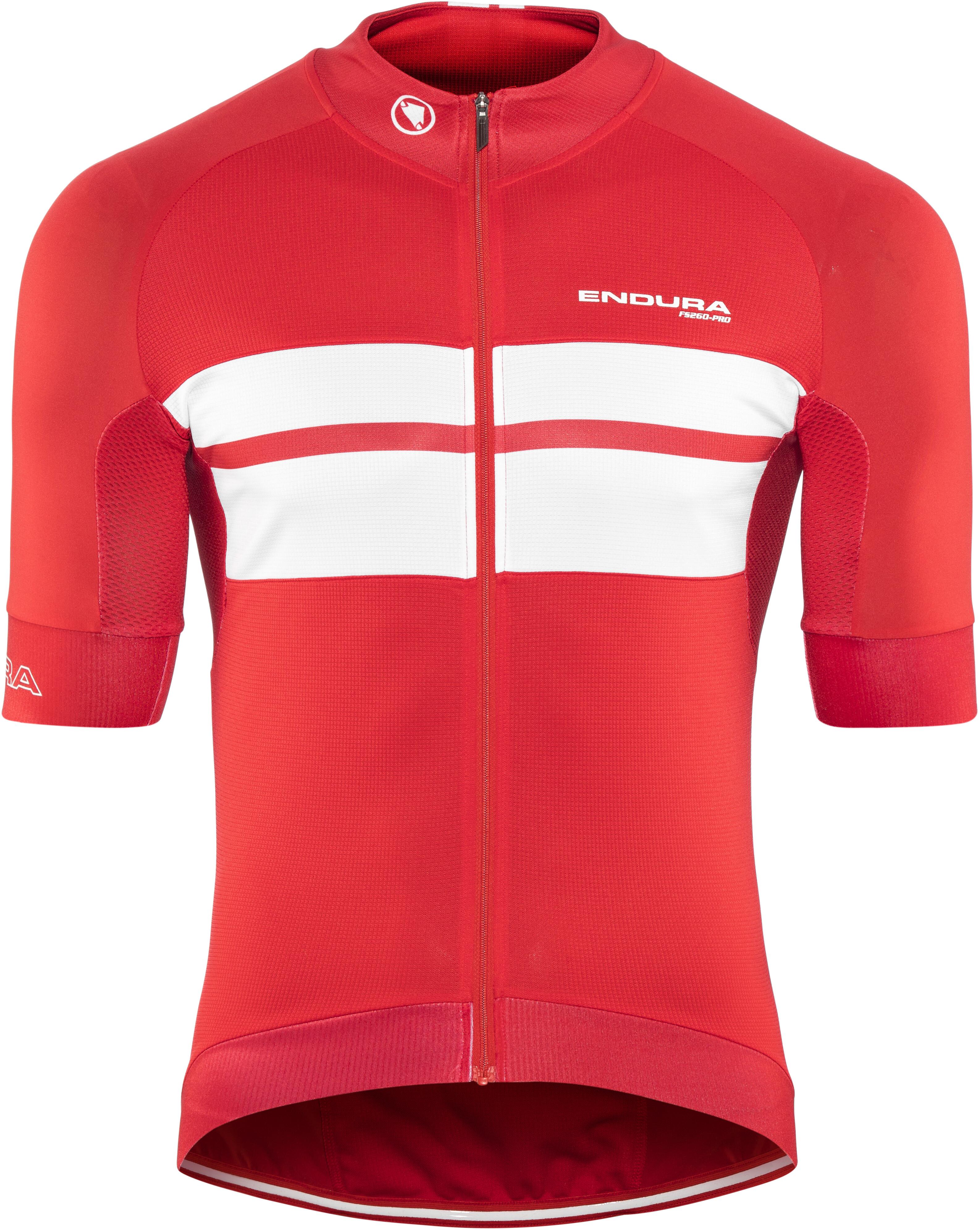 Endura FS260-Pro Bike Jersey Shortsleeve Men red white at Bikester.co.uk c91c42cab